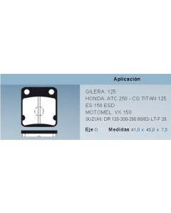 Pastilla De Freno Moto Honda Cg125 Es150 Suz. Dr Mtmel Vx150 Gil.125 0986BB5901