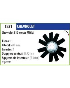 Helice Chevrolet S10 C/Motor Mwm