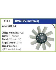 Helice Cummins Motor 6Cta 8.3 Giro Derecho