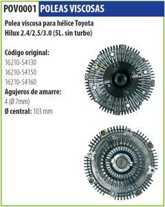 Polea Viscosa Toyota Hilux 2.4 2.5 3.0 (5L S/Turbo)