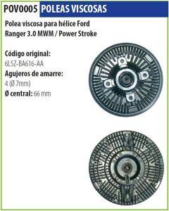 Polea Viscosa Ford Ranger 3.0 Mwm Power Stroke