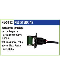Resistencia C/Contraparte Fiat Palio Fire 1.4 1.8 09-> Idea Punto Qubo