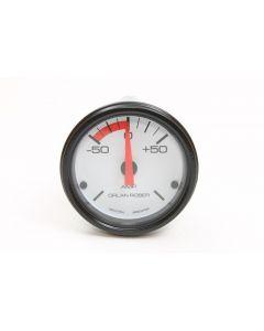 Amperimetro Opcional 50-0-50 Fondo Blanco Aro Negro