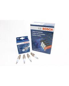 Kit Cables de Bujías + Bujías Bosch Fiat Dobló Cargo 1.4 Desde 2012 500 1.4 desde 2008 Uno Grand Siena 1.4 desde 2013
