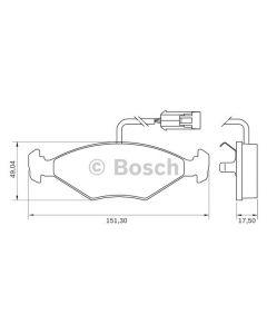 Pastilla de Freno Delantera Bosch Fiat Palio Tempra con sensor