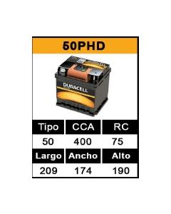 Bateria  50 Ah - 400 Cca - 209 174 190 - Vw Trend Renault Twing