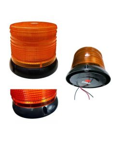 Baliza Flash Led 12V Base Magnetica Ambar