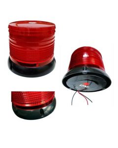 Baliza Flash Led 24V Base Magnetica Roja