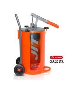Bomba Manual Para Aceite Capacidad 10 Litros C/Ruedas-JIT01-0087