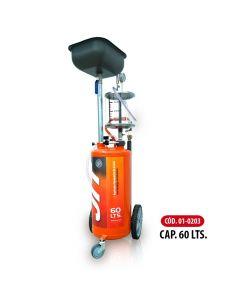 Aspirador Neumatico De Aceite Capacidad 60 Litros C/Visor De Vidrio X 10 Litro-JIT01-0203