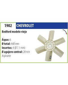 Helice Chevrolet Bedford Modelo Viejo
