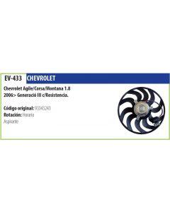 Electroventilador Chevrolet Agile Corsa Montana 1.8 06-> C/Resistencia