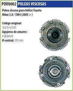 Polea Viscosa Toyota Hilux Sw4 3.0 05->