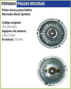 Polea Viscosa Mercedes Benz Sprinter