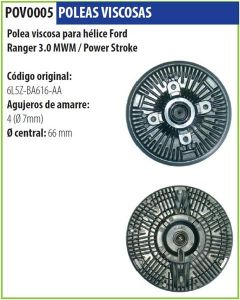 Polea Viscosa Ford Ranger 3.0 Mwm Power Stroke